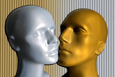 Plastic Models Digital Art - She And He by TinaDeFortunata