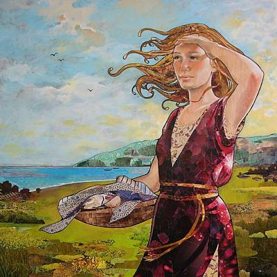 Mixed Media - She Baked The Loaves And Dried The Fishes by Robin Birrell