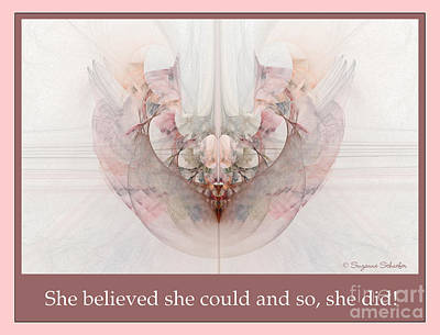 Digital Art - She Believed by Suzanne Schaefer