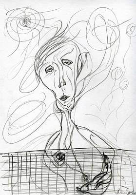 Drawing - She by Bennu Bennu