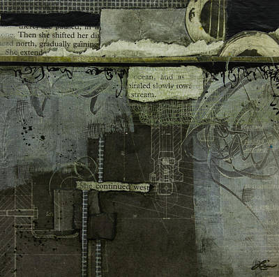 Plan Mixed Media - She Continued West  by Laura Lein-Svencner