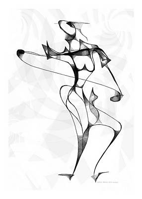 Digital Art - She Dances 3732 by Marek Lutek
