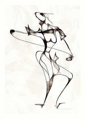 Digital Art - She Dances 3733 by Marek Lutek