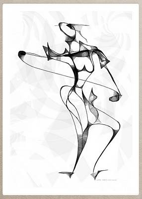 Digital Art - She Dances 3734 by Marek Lutek