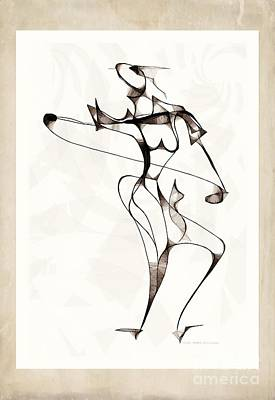 Digital Art - She Dances 3736 by Marek Lutek