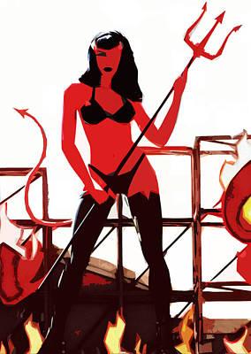 She-devil Art Print by Jason Williams