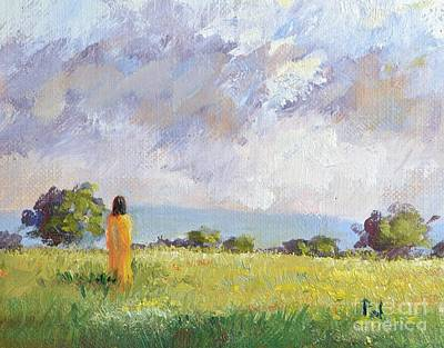 Faith Hope And Love Painting - She Discovered The Answer by Philip Jones