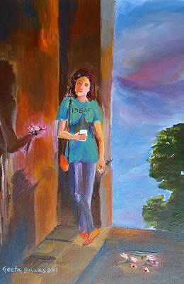 Painting - She Doesn't Care by Geeta Biswas