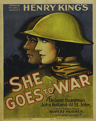 1929 Drawing - She Goes To War 1929 by Mountain Dreams