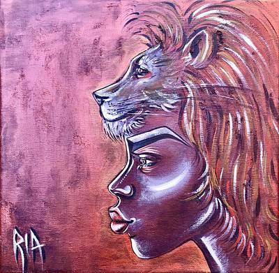 Animal Painting - She Has Goals by Artist RiA