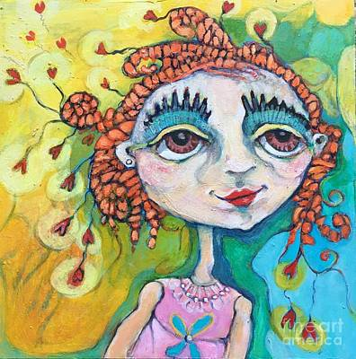 Painting - She Has Lots Of Heart To Give by Michelle Spiziri