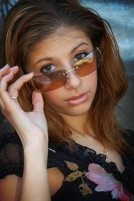 Photograph - She Holds Her Glasses by Mike Martin