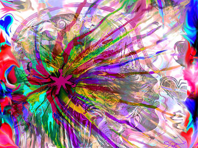 Visionary Digital Art - She Is Gentle Sweetness. by Abstract Angel Artist Stephen K