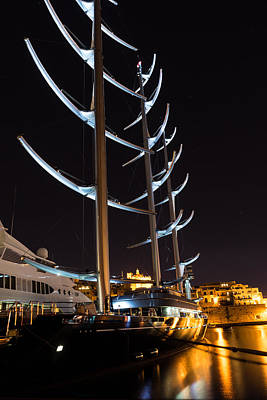 Photograph - She Is So Special - The Luxurious Maltese Falcon Superyacht by Georgia Mizuleva