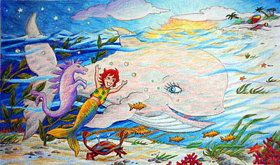 Painting - She Joyfully Swims  by Matt Konar