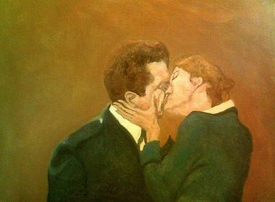 Painting - She Kisses Him by Peter Gartner