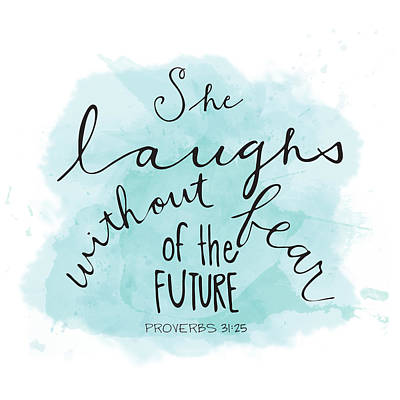 She Laughs Art Print