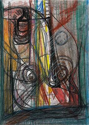 Charcoal Mixed Media - She Learned Her Lesson by Diane Morrison