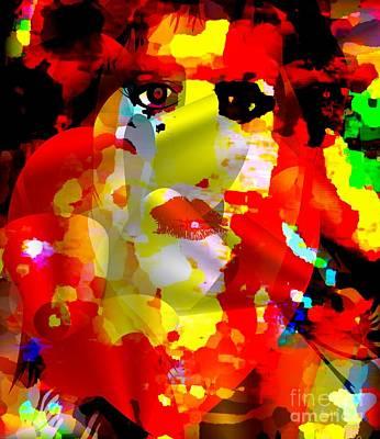 Sex Slaves Digital Art - She Looks Red Or Bruised Again by Fania Simon