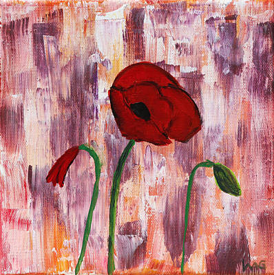 Painting - She Loved Red Poppies by Lynn-Marie Gildersleeve