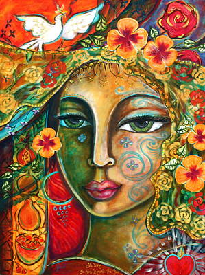 Visionary Painting - She Loves by Shiloh Sophia McCloud