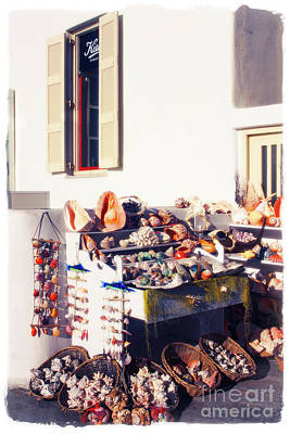 Photograph - She Sells Seashells Mykonos With Edge by Donna Munro