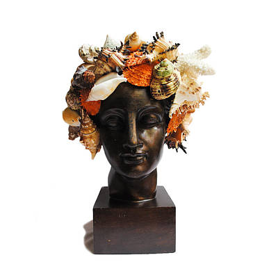 Mixed Media - She Shell Bust by Denise H Cooperman