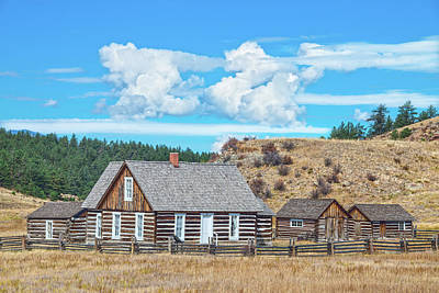 Photograph - She Showed Her True Mettle For Many Years. Adeline Hornbeck Homestead, Florissant, Colorado  by Bijan Pirnia