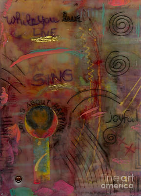 Art Therapy Mixed Media - She Sings Songs by Angela L Walker