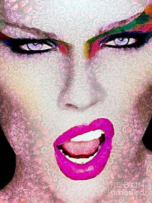 Digital Art - She Sings Vegged Out by Catherine Lott
