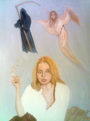 Painting - She Smokes But... by Peter Gartner
