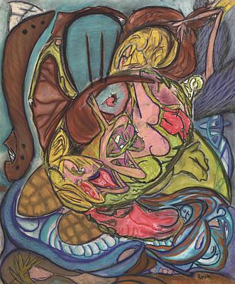 Ocean Turtle Painting - She by Stu Hanson
