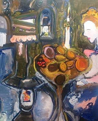Painting - She Suddenly Realised She Was Richer Than She Thought  by Judith Desrosiers