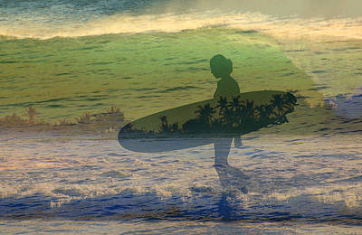 She Surf Art Print by Jim  Welch