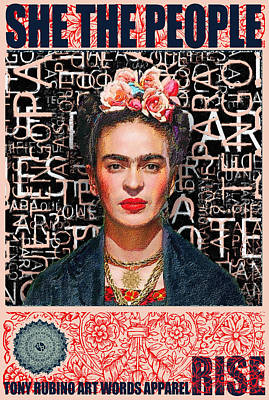 Painting - She The People Frida by Tony Rubino