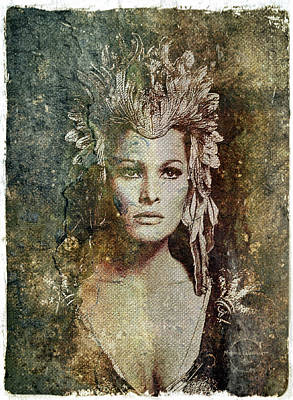 Digital Art - Ursula Andress - She by Absinthe Art By Michelle LeAnn Scott