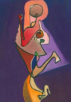 She Violette's Herself Art Print by Ricky Sencion