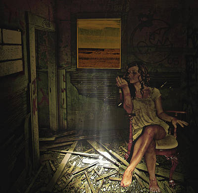 She Waits For Him To Return Art Print by Jeff Burgess