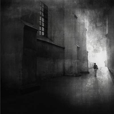 Street Photograph - She Walked by Radovan Skohel