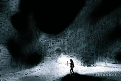 Digital Art - She Walks In The Shadows Art by John Rizzuto