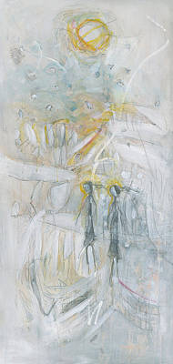 Snowy Day Mixed Media - She Walks On The Ice Coverd Lake With A Friend by Christine Alfery