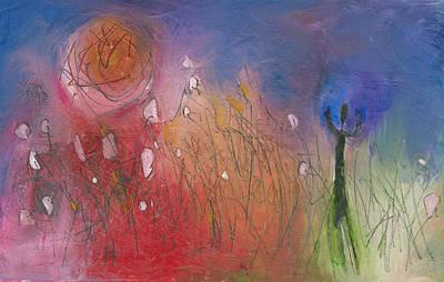 Mixed Media - She Walks Towards The Light by Christine Alfery