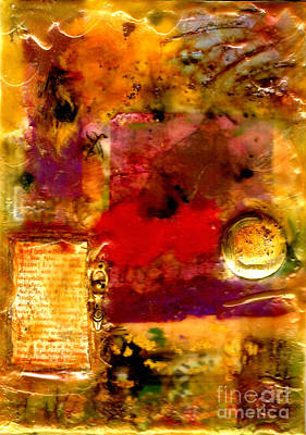 Mixed Media - She Wants Gold For Her Cherries by Angela L Walker