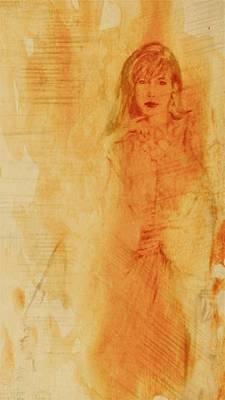 She Was Art Print by Wendy Landkammer