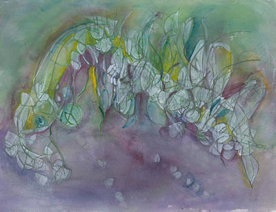 Painting - She Watches The Northern Lights by Christine Alfery