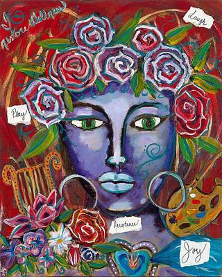 Wall Art - Painting - She Who Restores Wellness by Evelyne Verret