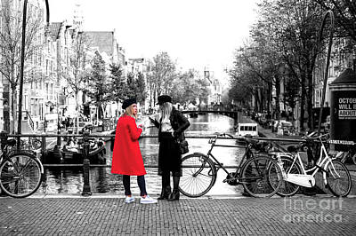 Photograph - She Wore A Red Jacket In Amsterdam by John Rizzuto
