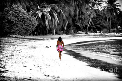 Photograph - She Wore Pink On The Beach by John Rizzuto