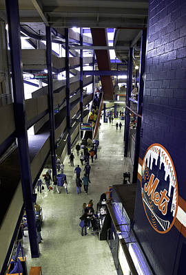 Shea Stadium Walkways Art Print