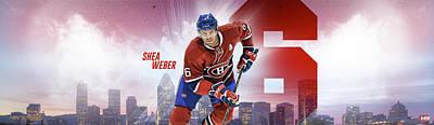 Montreal Canadiens Digital Art - Shea Weber by Nicholas Legault